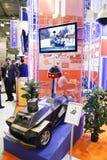 独立巡逻防护机器人系统 免版税库存图片