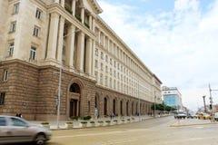 独立广场在索非亚 免版税库存照片