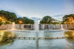 独立广场在Mendoza市,阿根廷 库存照片