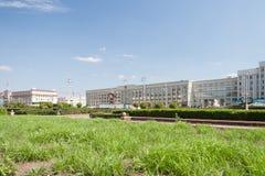 独立广场,米斯克 免版税库存图片