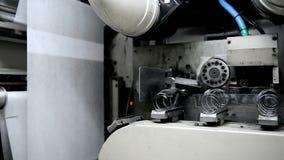 独立弹簧在机器自动地被制造 股票录像