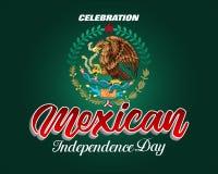 独立日的庆祝在墨西哥 皇族释放例证