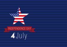 独立日美国卡片 库存照片