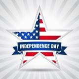 独立日美国星丝带 免版税库存图片
