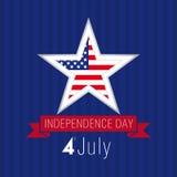 独立日美国星 库存图片