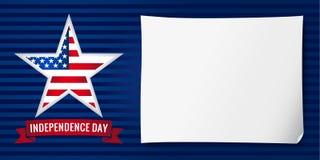 独立日美国横幅星 免版税库存图片