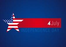 独立日美国横幅 免版税库存照片