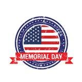 独立日背景和徽章商标与美国旗子 库存例证