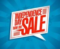 独立日销售优惠券设计 库存照片