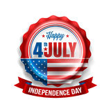 独立日7月4日销售 愉快的美国美国独立日 库存照片