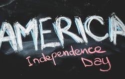 独立日黑板背景 图库摄影