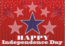 独立日7月4日。 免版税图库摄影