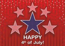 独立日7月4日。 库存照片