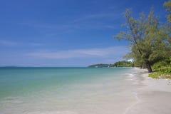 独立海滩在西哈努克柬埔寨 库存图片