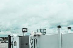 独立的jetway C8在波士顿摇石机场, 2017年5月15日 库存照片
