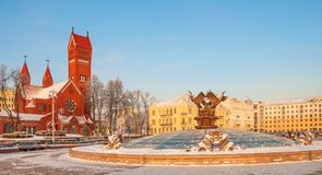 独立米斯克广场 免版税库存照片