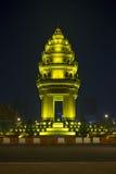 独立纪念碑在金边柬埔寨 库存图片