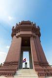 独立纪念碑是一个地标在金边,柬埔寨 免版税库存图片