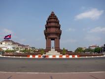 独立纪念碑penh phnom 库存图片