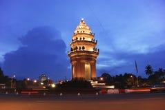 独立纪念碑penh phnom 库存照片