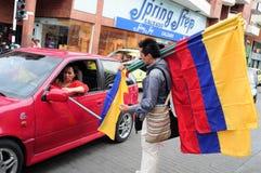 独立Day.Colombia 库存图片