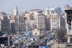 独立Majdan的看法 免版税图库摄影