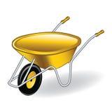 独轮车黄色 免版税图库摄影