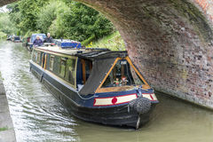 狭窄的小船 库存照片