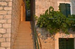 狭窄的段落和台阶 库存图片