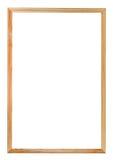 狭窄的简单的木画框 免版税库存照片