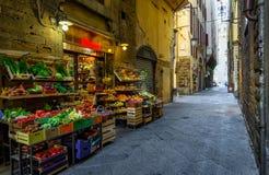 狭窄的舒适街道在佛罗伦萨,托斯卡纳 库存照片
