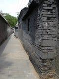 狭窄的街道在北京 库存照片