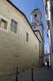 狭窄的街道在老镇,布拉索夫 免版税库存图片