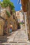 狭窄的街道在耶路撒冷旧城耶路撒冷 库存图片