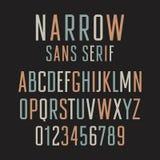 狭窄的Sans Serif 001 向量例证