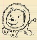 狮子乱画剪影 库存照片
