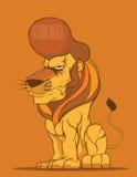 狮子传染媒介,时尚发型 库存照片