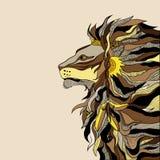 狮子僧人 库存照片