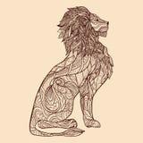 狮子剪影例证 库存照片