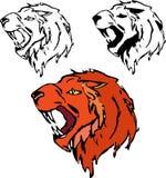 狮子剪影 免版税库存照片