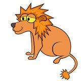 狮子动画片传染媒介例证 图库摄影