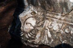 狮子古老废墟  图库摄影