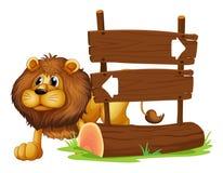 狮子和牌 库存照片