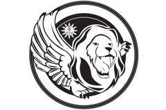 狮子商标 免版税库存照片