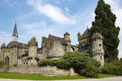 狮子城堡卡塞尔Wilhelmshoehe,童话城堡,德国 免版税库存照片