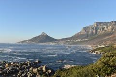 狮子头的看法在开普敦,南非 免版税图库摄影