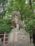狮子奈良雕象 免版税图库摄影