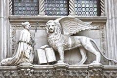 狮子威尼斯 免版税图库摄影