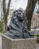 狮子守卫 免版税库存图片