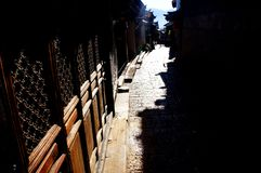 狮子山街道在中国的丽江 库存照片